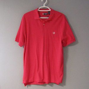 NWT Chaps Rose Red / Pink Polo Shirt Size XL
